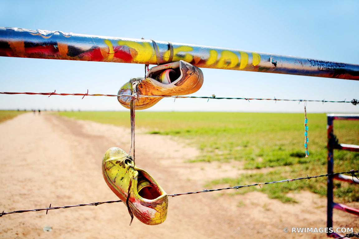 Photo Print of PAINTED SHOES CADILLAC RANCH ROUTE 66 AMARILLO TEXAS ...