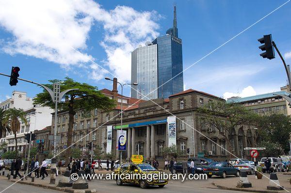 Corner Of Kenyatta Avenue And Kimathi Street Nairobi Kenya Stock ...