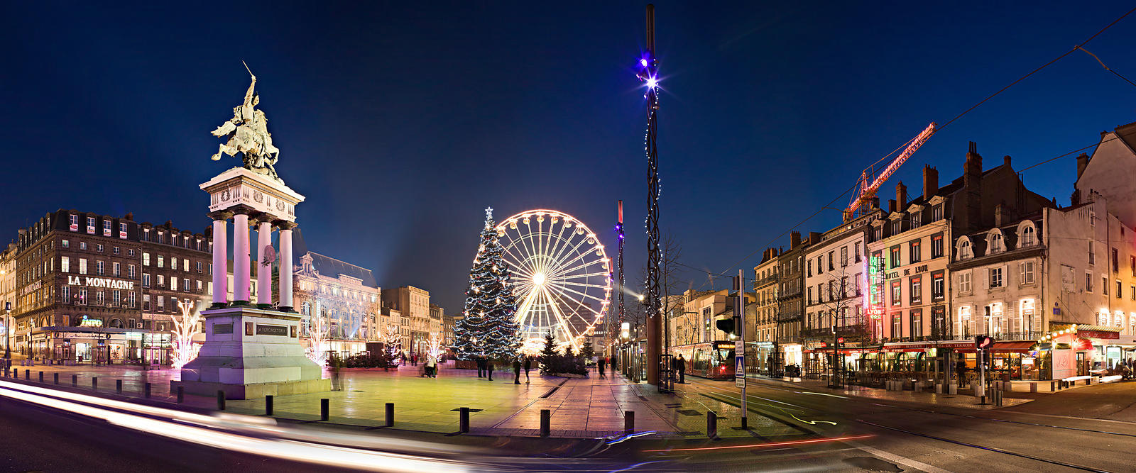 photostock arnaud frich place de jaude at christmas clermont ferrand. Black Bedroom Furniture Sets. Home Design Ideas