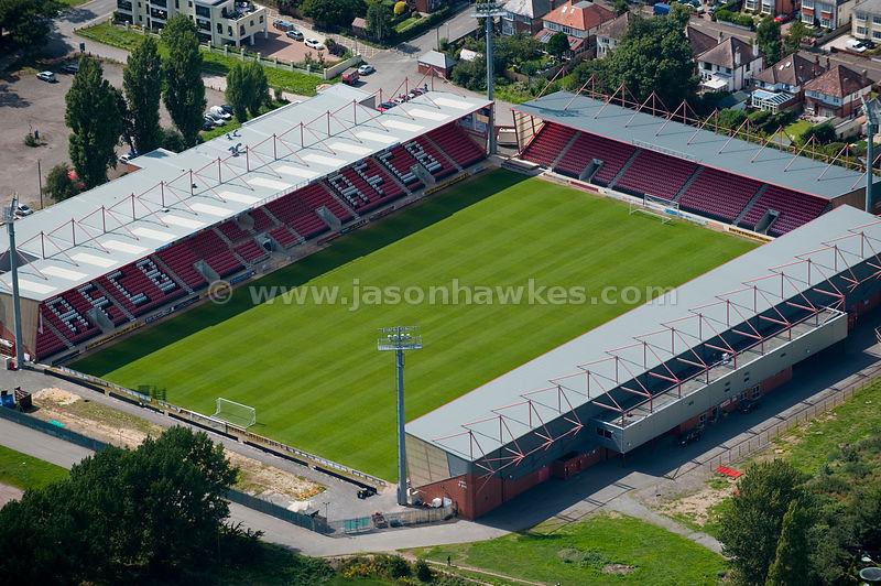 Aerial View Dean Court Stadium Home Of League Two Team