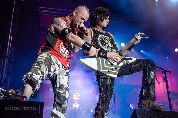 Ivan Moody and Jason Hook, Five Finger Death Punch, Aftershock 2013