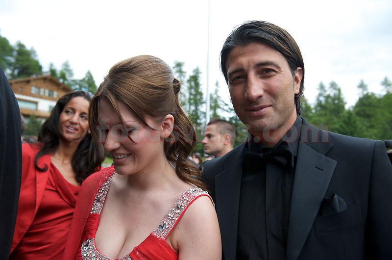 lilly kerssenberg wedding. murat jakin (ex fussballer) at boris becker lilly kerssenberg wedding event in saint moritz b