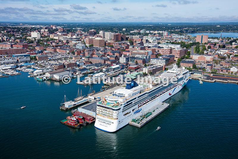Latitude Image Norwegian Dawn Cruise Ship In Portland Maine
