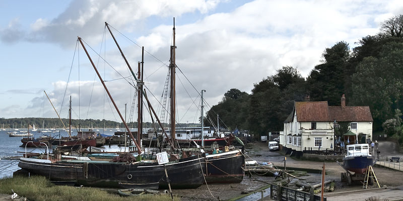 View of Pin Mill from King&#x27;s Yard