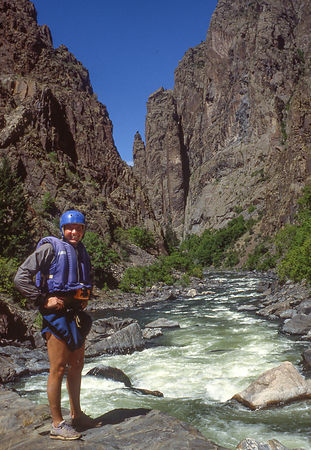 One of the first kayak descents of the Black Canyon of the Gunnison in the 1980s