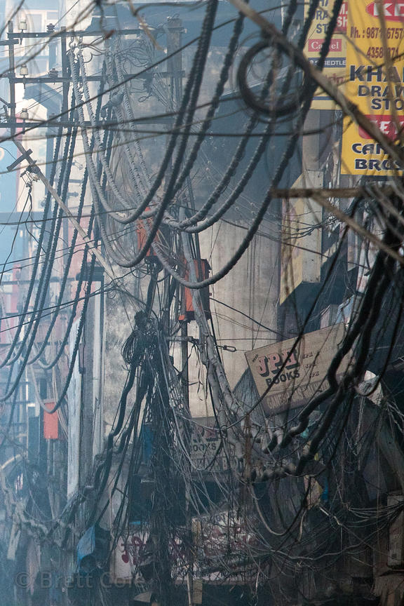 Brett Cole Photography | Tangled utility wires in the Chandi Chowk ...
