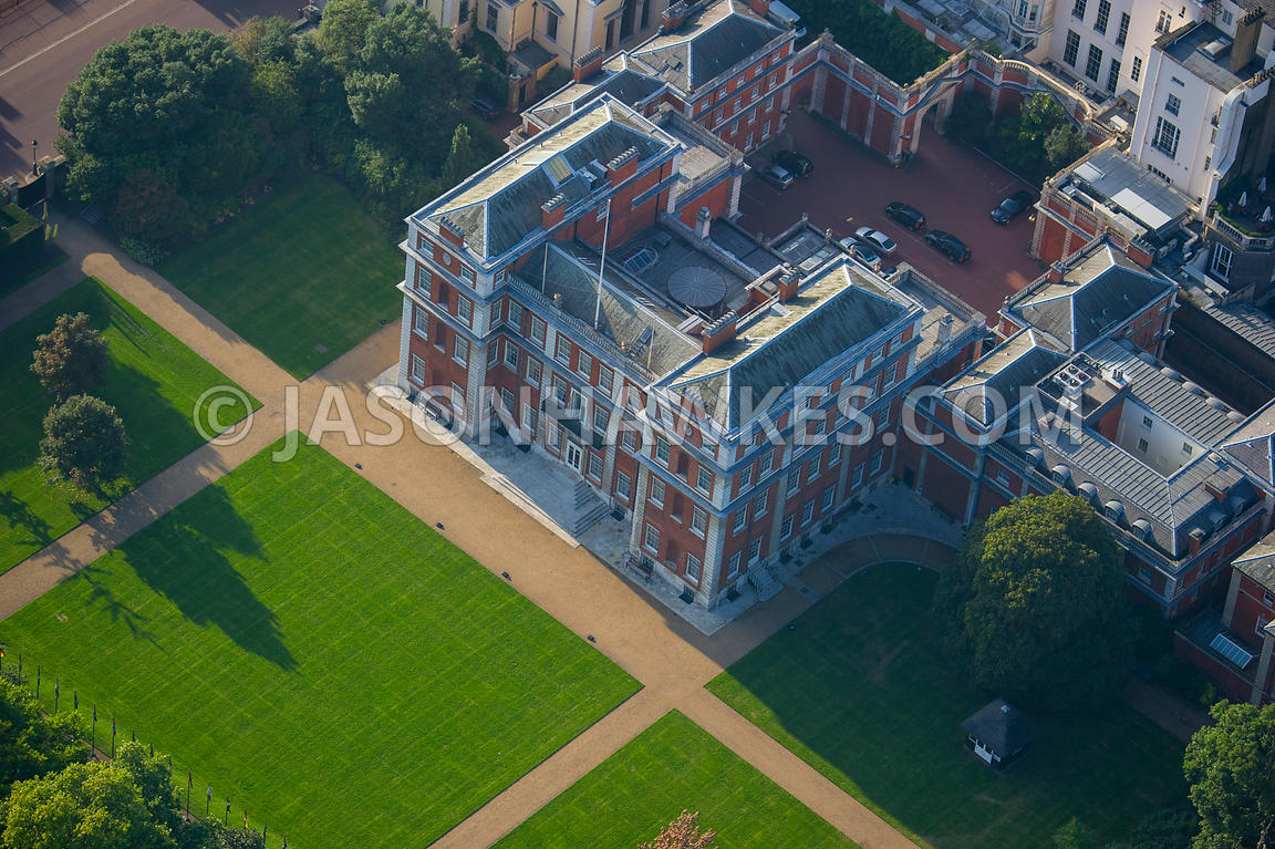 Aerial View. Aerial view of Marlborough House, London . Jason Hawkes