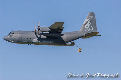 C130 Hercules in the air
