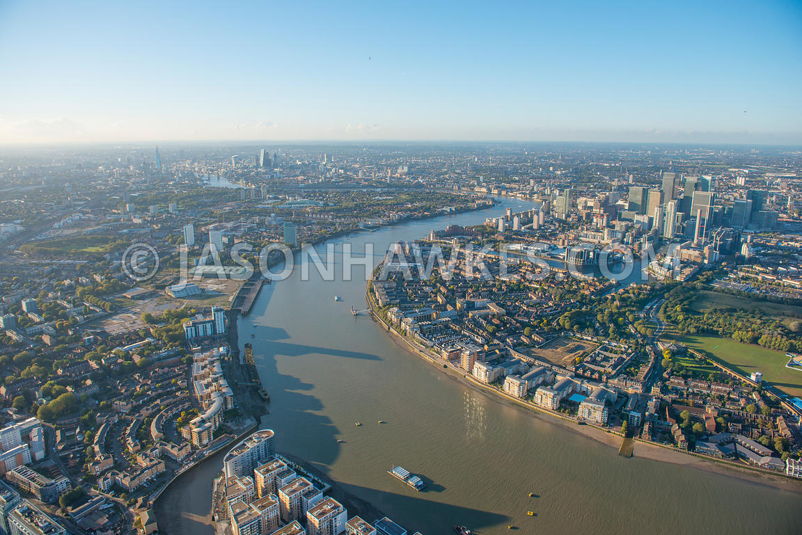 Aerial View. Aerial view of the River Thames, London