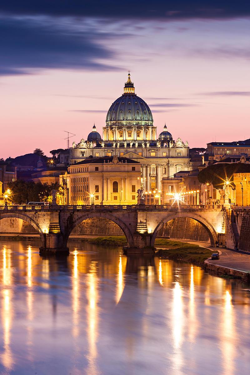 photostock arnaud frich st peter basilica in the twilight