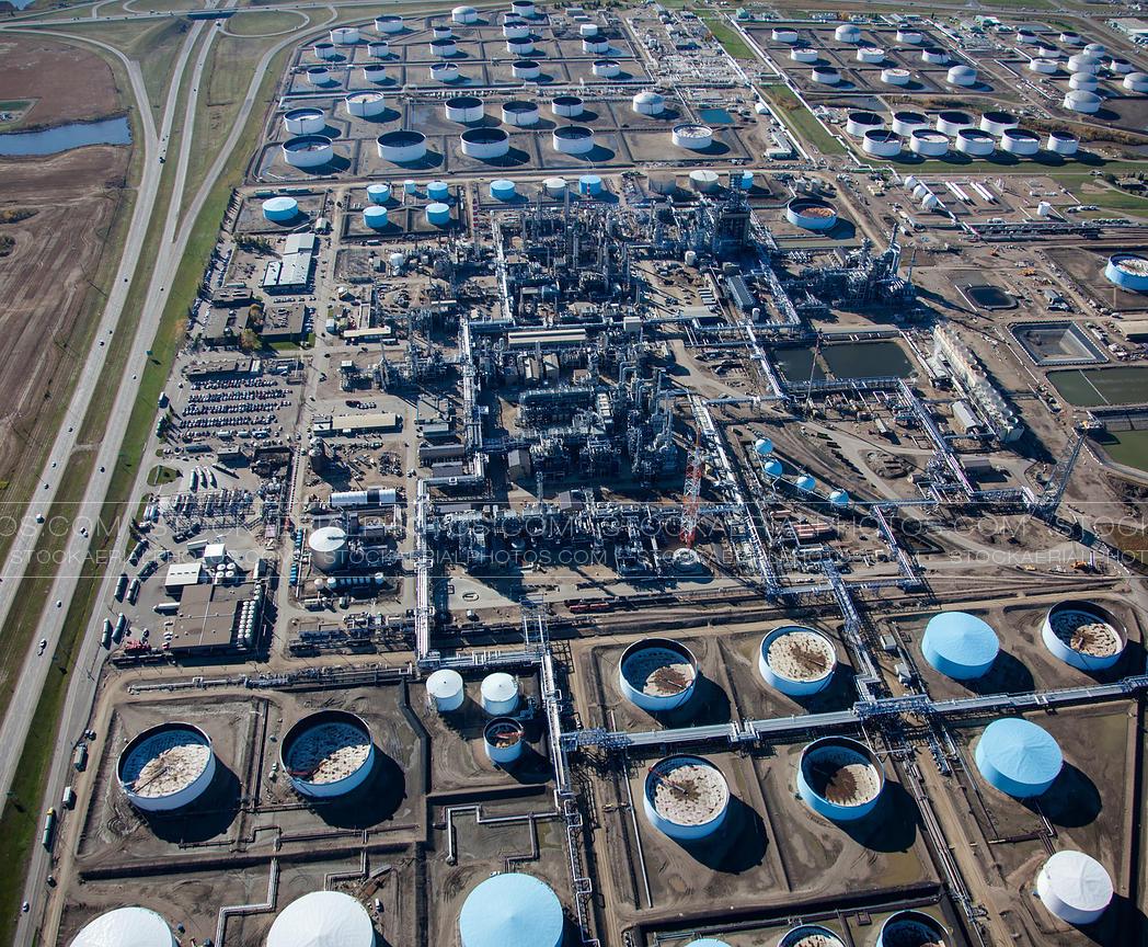 Aerial Photo Enbridge Oil Refinery Edmonton Alberta