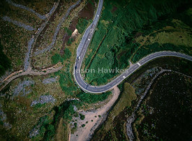 A9 Road hugging Scottish Coastline, north of Helmsdale