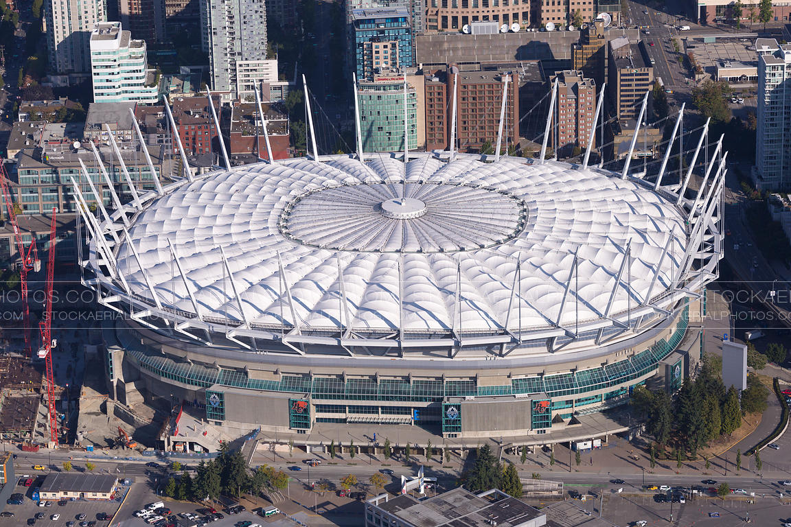 Aerial Photo Bc Place Stadium Vancouver