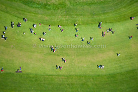 People looking at Stone Henge