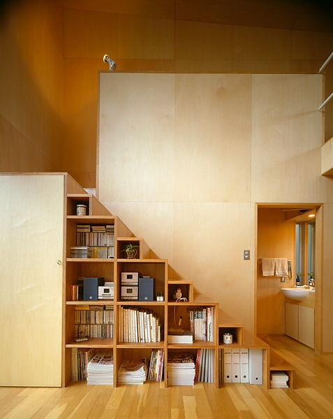 Michael Freeman Photography Plywood House Staircase