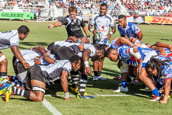 Scrum, Fiji v. Samoa, World Rugby Pacific Nations Cup