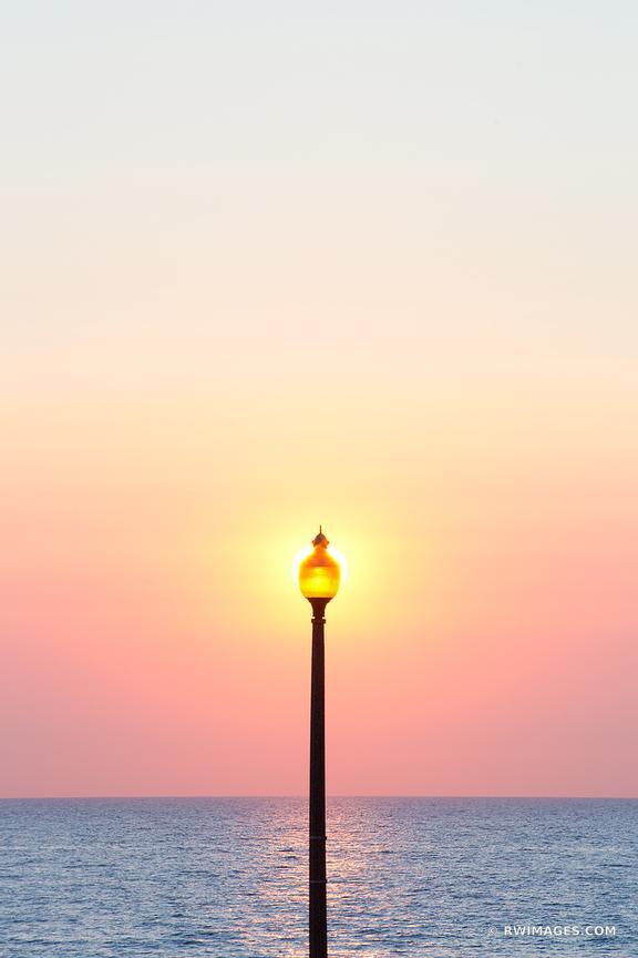 Photo Print of STREET LAMP LAKE MICHIGAN SUNRISE CHICAGO COLOR ...