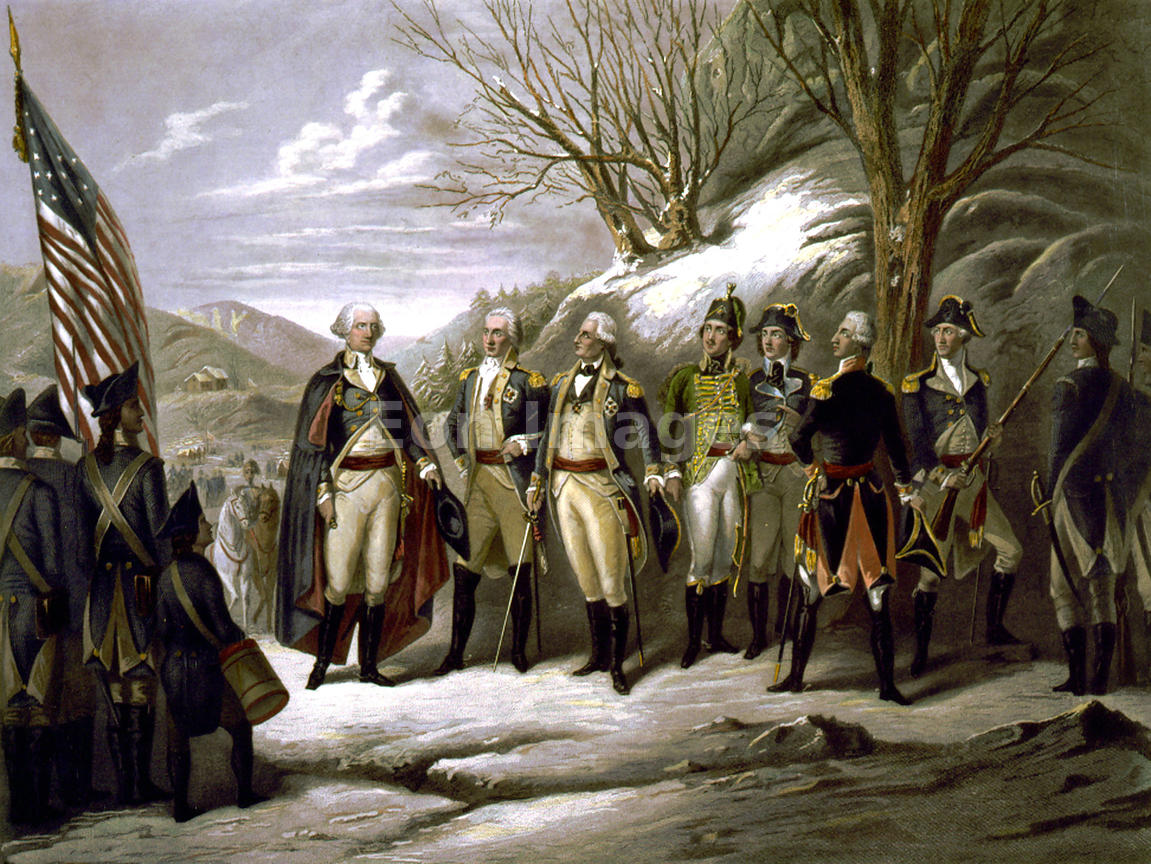 Eon Images   George Washington and other officers during American ...