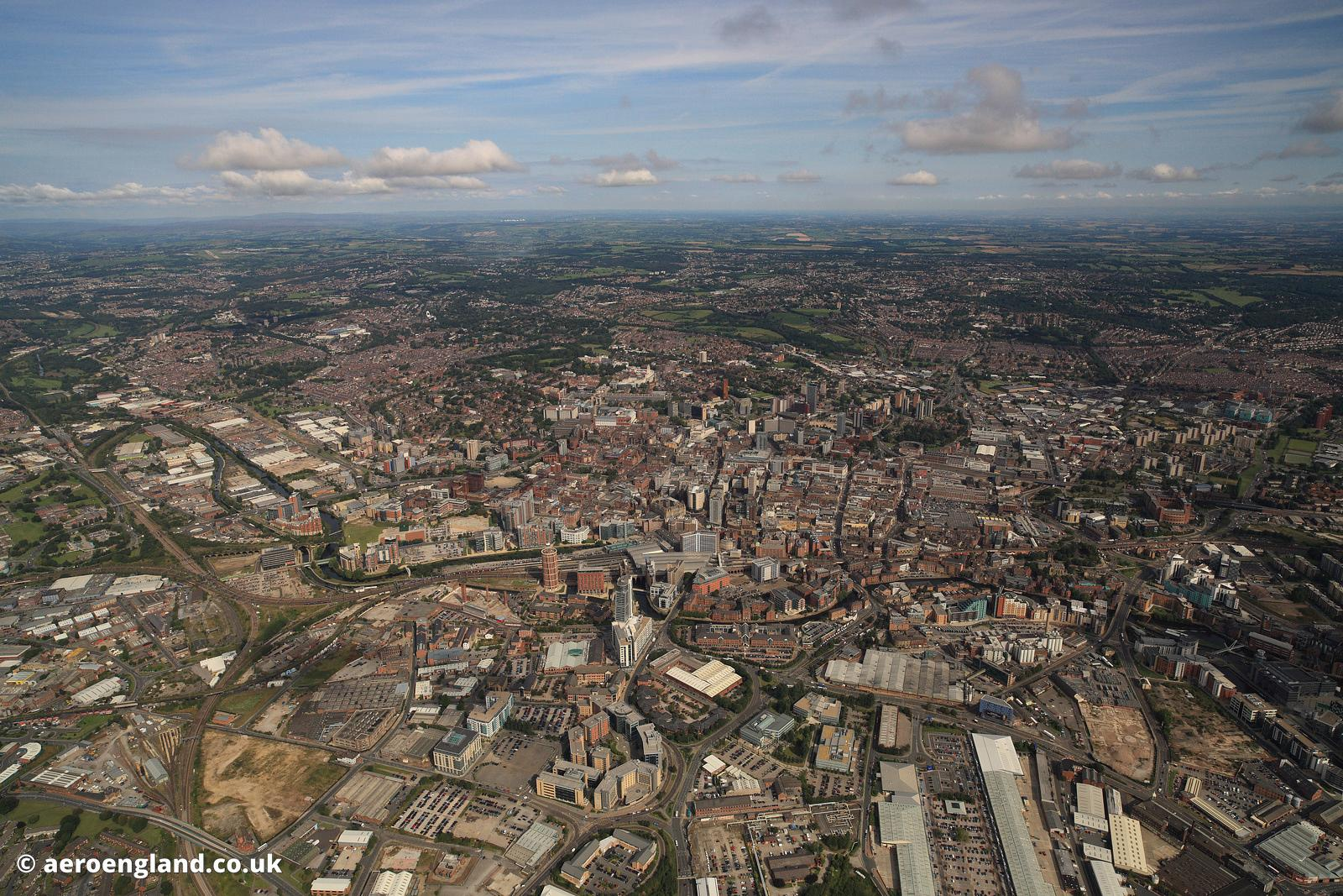 aeroengland   aerial photograph of Leeds Yorkshire England UK