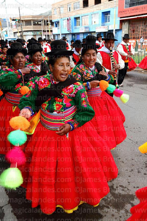 45d2accdf7 Female chacareros dancers from Acora village at Virgen de la Candelaria  festival