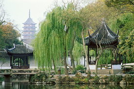 Zhuzheng Yuan (The Humble Administrator's Garden), built in 1509, Suzhou, Jiangsu, China. During the reign of Emperor Zhengde (1506-1521), the site was occupied by Dahong Temple.