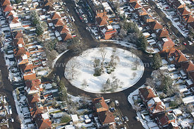 Aeria view of snow, winter, cold,