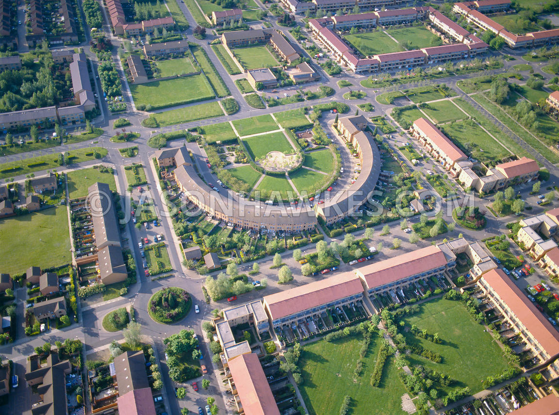 aerial view housing in milton keynes jason hawkes. Black Bedroom Furniture Sets. Home Design Ideas
