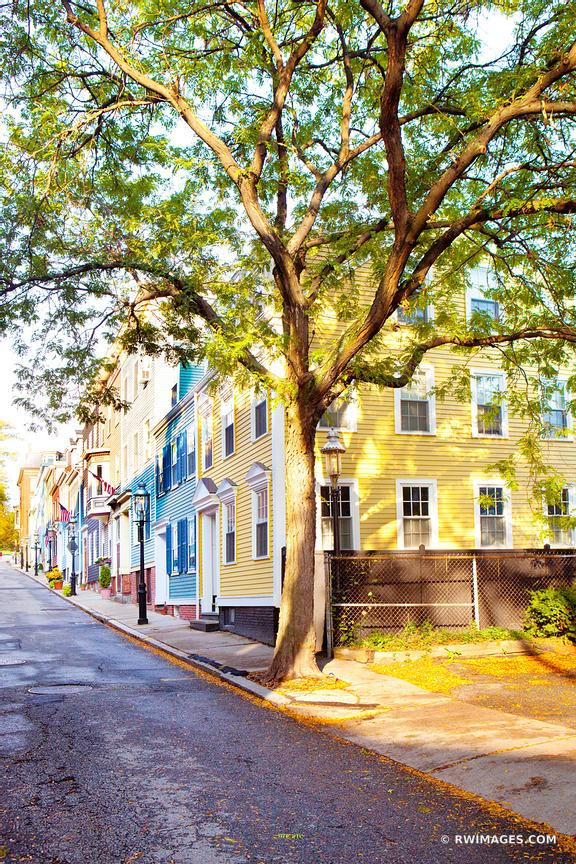 Photo Print of STREET IN HISTORIC CHARLESTOWN BOSTON COLOR VERTICAL ...
