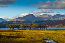 Scottish landscape view