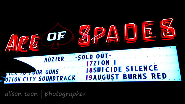 I can die happy now. Hozier, Ace of Spades Sacramento, 11 Feb 2015