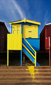 Oops yellow paint beach hut