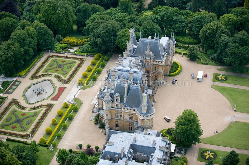 Aerial View Waddesdon Manor Buckinghamshire Jason Hawkes