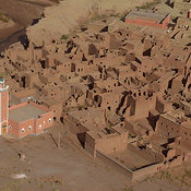 Painted Mosque And Village, Morocco