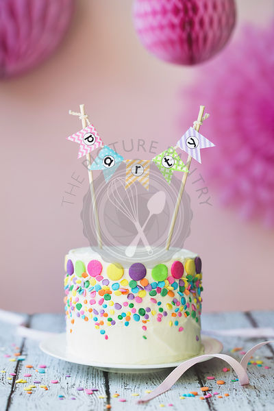 Birthday Cake With Party Banner