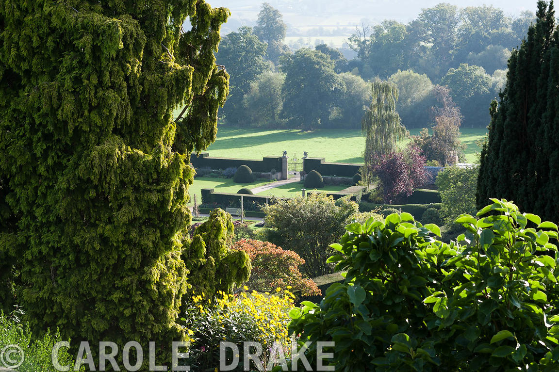 CAROLE DRAKE View down to the Formal and Fountain gardens from the