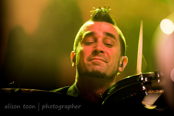 Pete Parada of The Offspring, Aftershock 2014, Sacramento