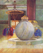 Fountain in Saint Sophia by Warwick Goble