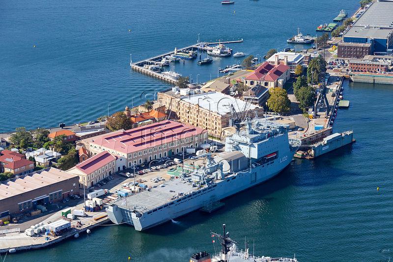 HMAS Choules At Garden Island