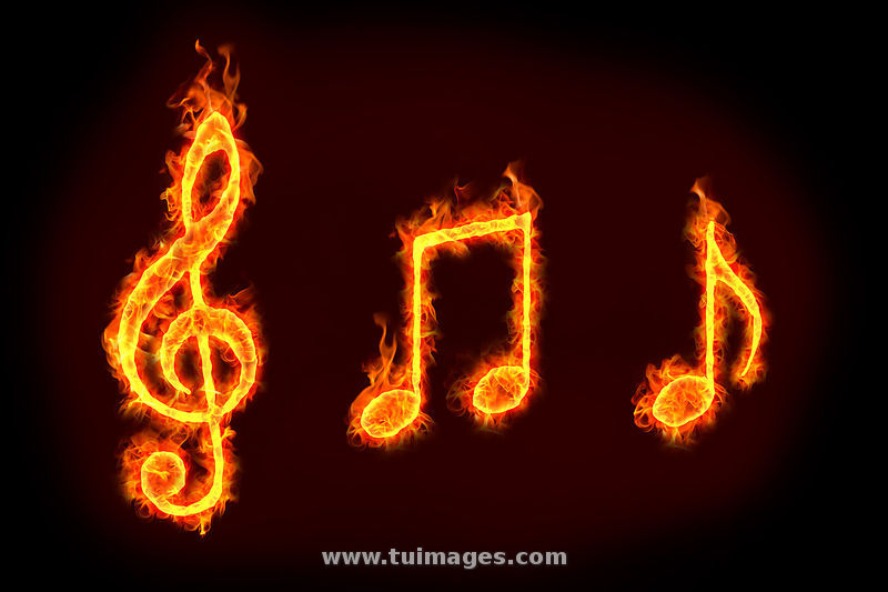 element of fire and music