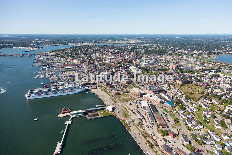 Latitude Image Carnival Glory Cruise Ship In Portland Maine