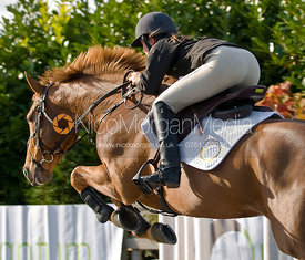 Show Jumper using the new Quantum Saddle, Di Lampard&#x27;s Yard, Nr Oakham, Rutland.