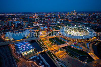 Aerial view of the Olympic Stadium, London