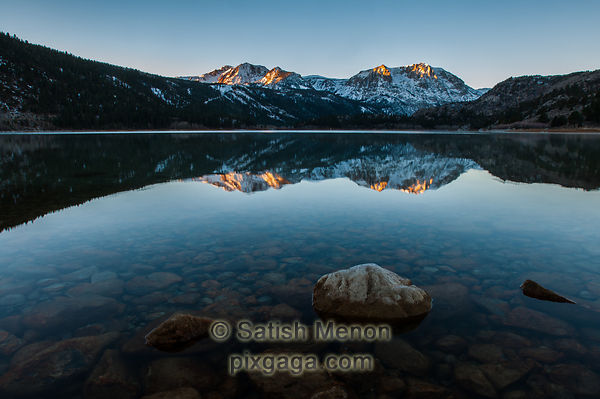 June Lake and Sierra Crest at dawn