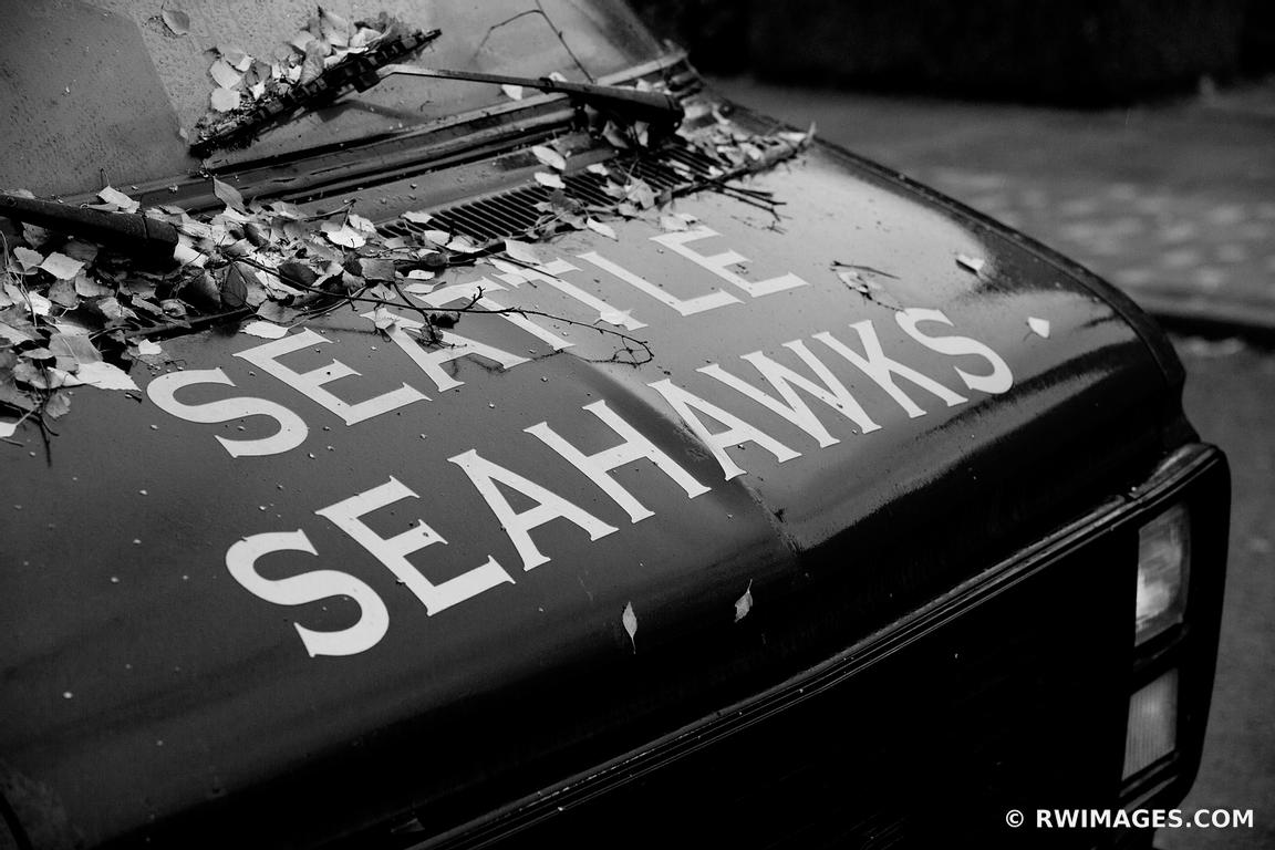 Photo Print of SEATTLE SEAHAWKS BLACK AND WHITE Print Framed Picture ...