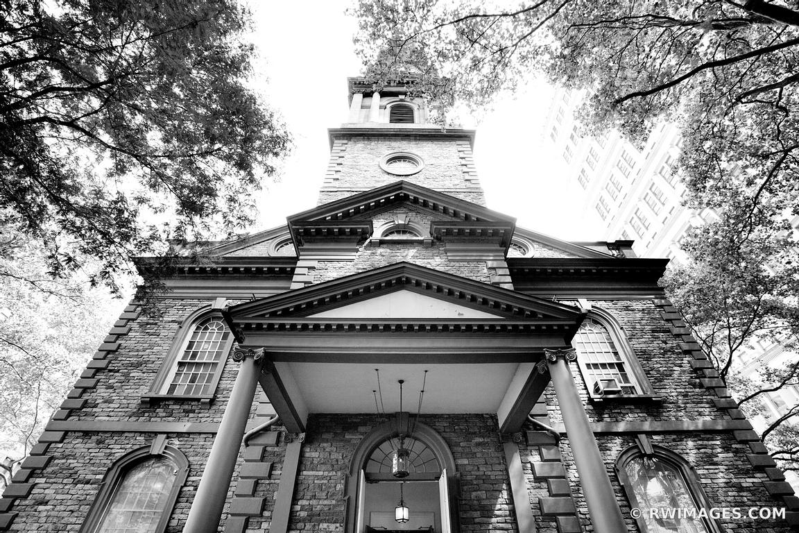 Photo print of old church lower manhattan new york black for Churches for sale in ny