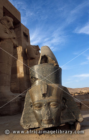 an analysis of the colossal head in ancient egypt The ancient statue is 26 feet tall and an egyptian worker stands next to the head of the statue at the site of a new discovery by a follow artnet news on.