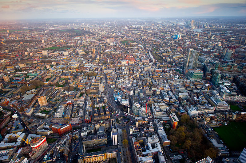 Aerial View Aerial View Over Old Street London Jason