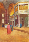 Sultan's Gallery at Saint Sophia by Warwick Goble