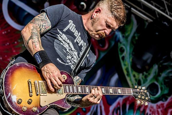 Bill Kelliher, guitar, Mastodon, Sacramento, Aftershock 2014