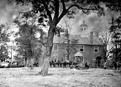 Union soldiers at Fairfax Court House, VA in June 1863